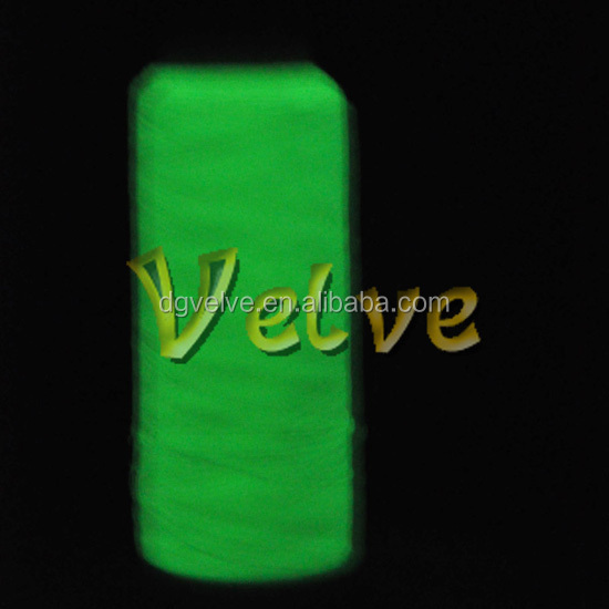 120d nylon glowing in the dark luminous sewing thread high quality luminescent thread