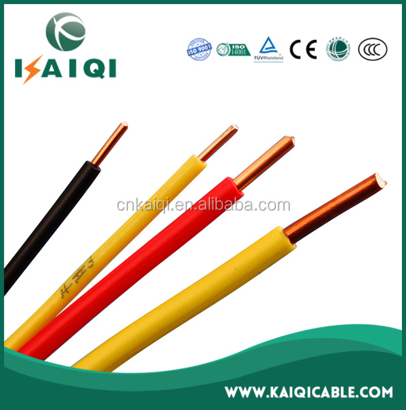 450/750V CE certificated 1 core copper conductor PVC insulated 1.5mm electric cable