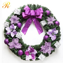 New year Christmas Decoration Door Hanging Wreath LED light
