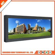 China manufacturer durable 16.7M lcd tv board Stretched standing solar power advertising display
