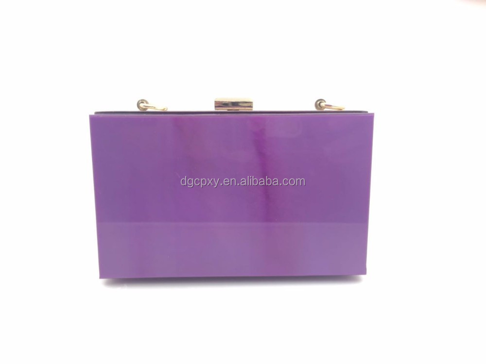 The new European and American fashion big - name section of acrylic square box evening bag package