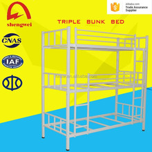 Henan ShengWei trio bunk bed 3 layers metal triple bunk bed for sale