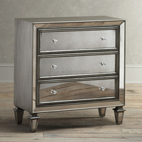 Vanity mirror bedside table with drawer for living room and bedroom
