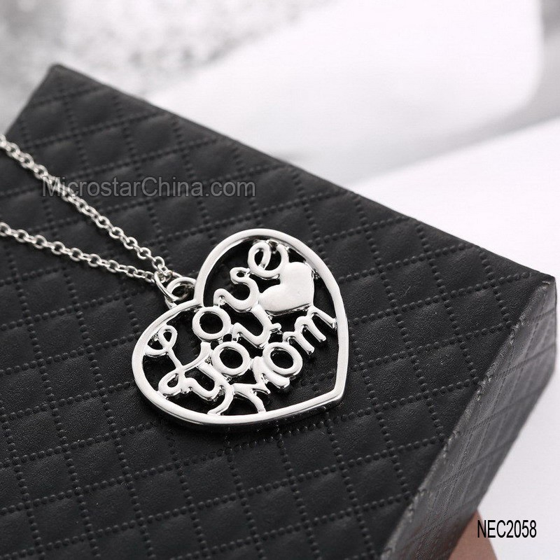 Wholesale Alibaba Fashion Necklaces Jewellry Mothers Day Gifts Cheap Mom Necklace