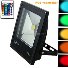 Led floodlights 10W 20W 30W 50W lighting IP65 outdoor 220V spotlights RGB with remote controller spot flood lamp garden