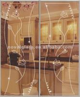 Decoration partition and door glass, Engraved Glass and Mirror