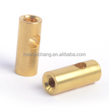 Customized precision metal hollow electrical brass barrel bolts