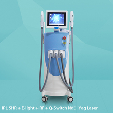 Hot sale painless e-light ipl rf+nd yag laser multifunction machine 4in1 beauty parlour equipments