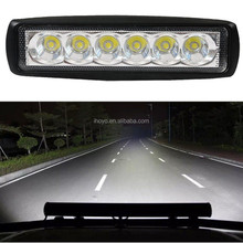 4 inch 18W LED Work Lighting Off Road Car Accessories Lamp Fog Light Bar For 4x4 SUV Car Truck Trailer Tractor ATV UTV Vehicle