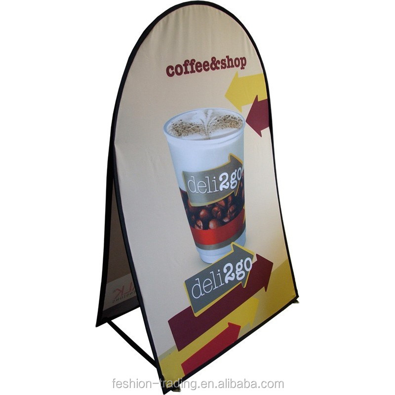 Custom vertical A frame pop out banner for pop up display