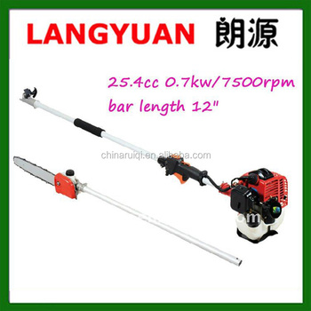 GASOLINE LONG HANDLE POLE CHAIN SAW,POLE PRUNER 25.4CC/0.75KW WITH CE