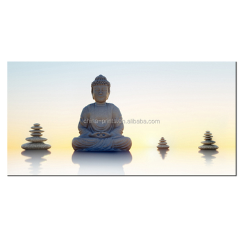 Peaceful Zen Canvas Wall Art Canvas Painting/Religion Buddhism Canvas Print/Modern Art Stone Buddha Canvas Printing