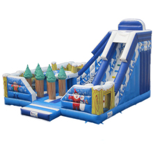 Hot sale professional supplier Christmas theme jumpers kids indoor inflatable snow slide for sale / custom size children slides