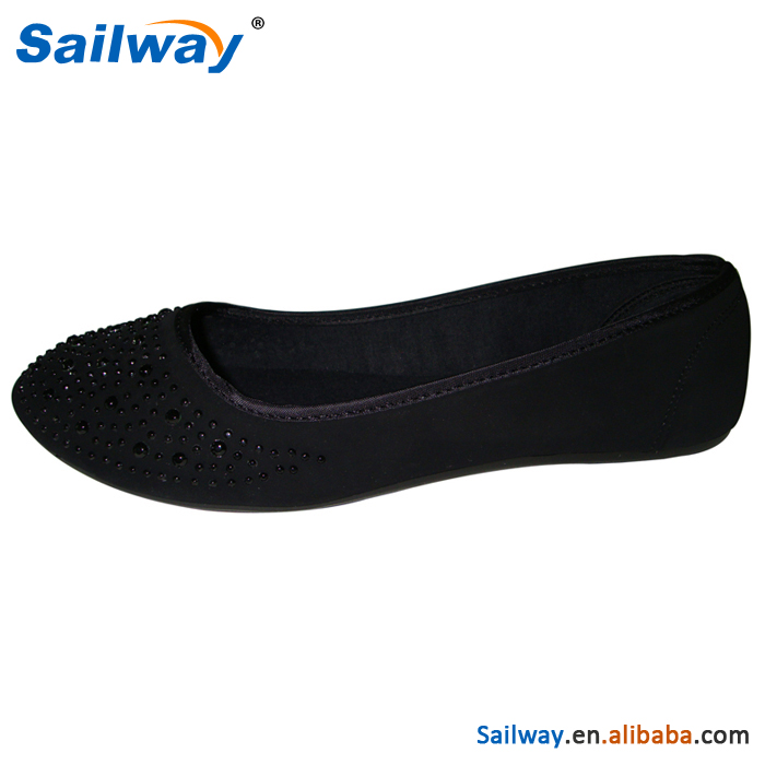 women roll up ballet shoes all black