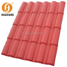 cheap chinese plastic pvc synthetic resin spanish roof tile