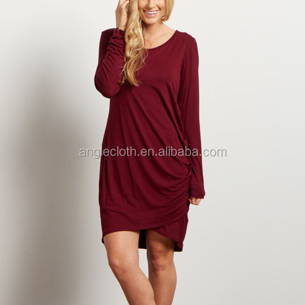Long Sleeve Side Ruched Wholesale Maternity Clothes