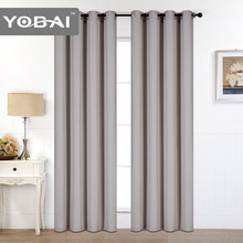 Premium 100% Polyester Window Curtains Design For Living Room In Stock