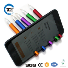 Promotional Multi-Function stylus touch pen and touch screen pen for Mobile Phone holder Stand Gel Pen