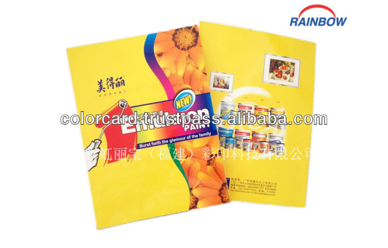 Cheap price high quality color card