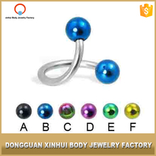 Unique design body jewelry surgical steel eyebrow bars sexy piercing jewelry eyebrow ring small eyebrow piercing