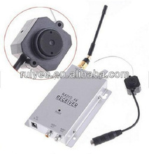 RY-203 Mini Battery Operated Night Vision A/V Audio Hidden Security Wireless Camera with Receiver