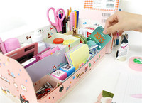 DIY Paper Board Storage Box Desk Decor Organizer Stationery Makeup Cosmetic