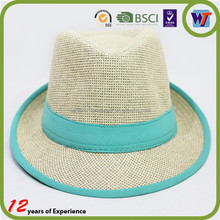 Colorful Most Popular Promotional Straw Panama Hat For Men