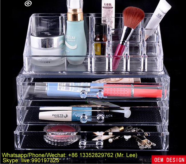 Customized plastic cosmetic storage box / toiletries wholesale