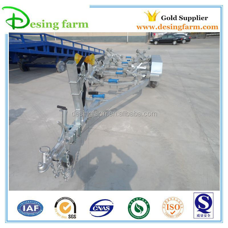 7600 hot dip galvanized long boat trailer with rollers