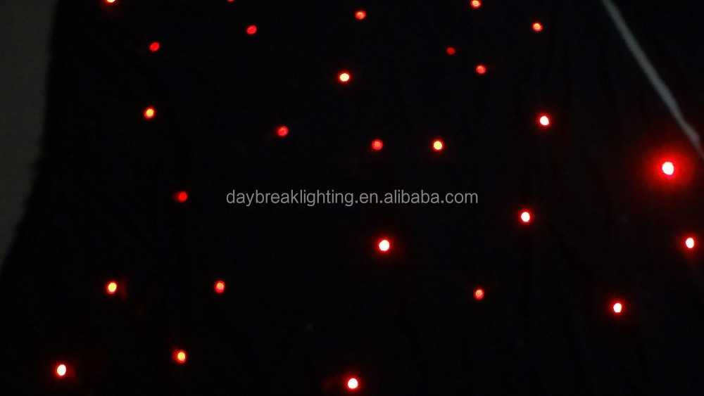 Good price drop ceiling curtain/ led star drop stage curtain AC90-240V Wedding velvet clothes background screen
