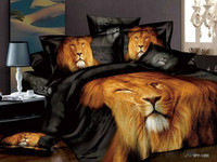 Best price with best quality!!! 100% cotton bed sheet lion animal wholesale