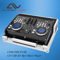 Factory supply newest CDM-500CT USB dual CD USB SD Mp3 Audio DJ Mixer Player