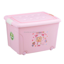 Free sample cute pattern plastic clothes storage box big BN7655