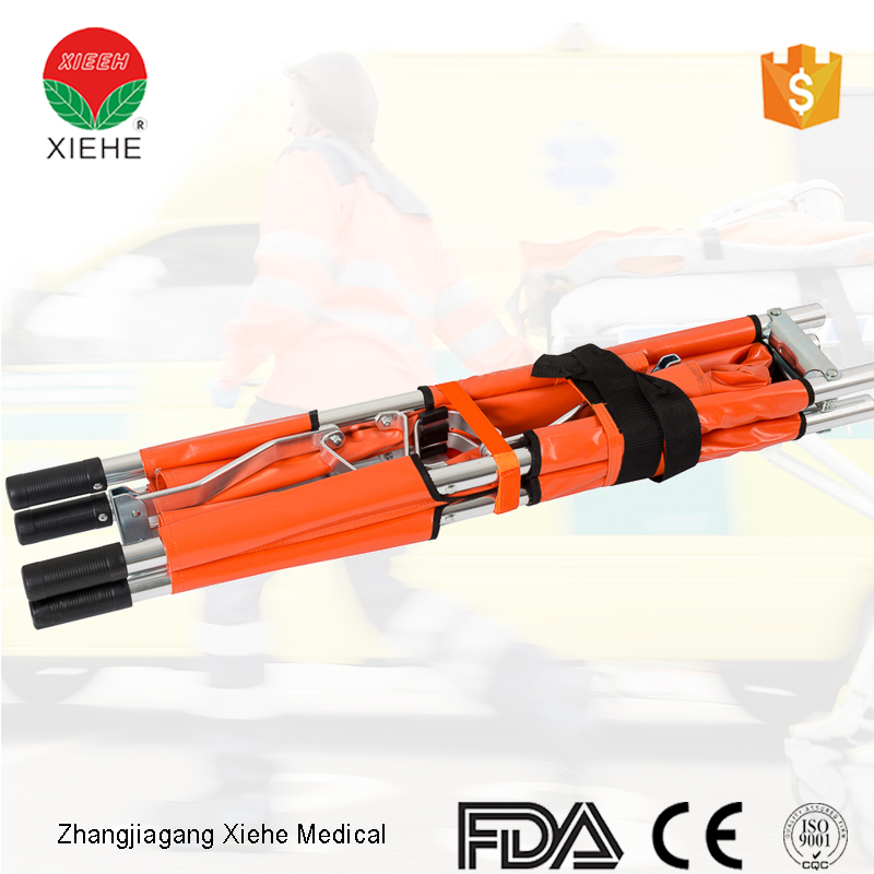 Emergency camp folding battlefield collapsible stretcher for rescue