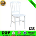 Wholesale high-end white stacking aluminum wedding chairs for bride and groom