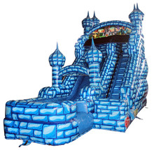 Super High Inflatable Water Slide for Kids and Adults Commercial Grade Inflatable Water Slide Curved Water and Dry Slide
