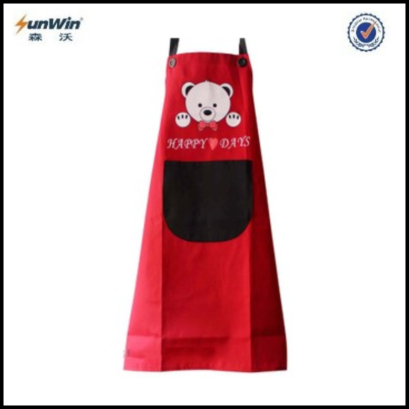 New silk screen high quality cheap plain apron for kids or promotion,factory price