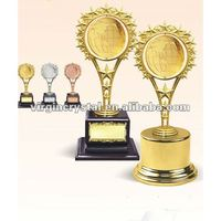 Golden 2D Globe Sculpture Honor Award Trophies