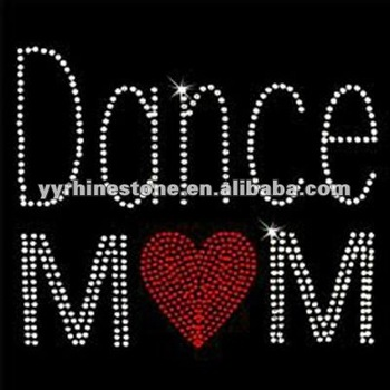 Dance mom iron on rhinestone transfer motif