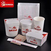 Disposable design printed paper fast food packaging & printing