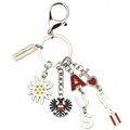 I Love Austria Promotion Gifts Custom Charm Keychains with Lobster Hook Portable Metal Pendant Souvenir Key Chain