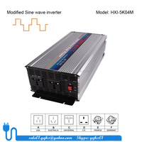 5000w modified sine wave auto recovery dc/ac power 5 kw 12 volt inverter to 110v converter with uk socket