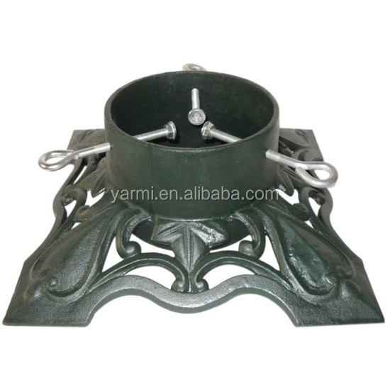 OUTDOOR CAST IRON CHRISTMAS TREE STAND BASE