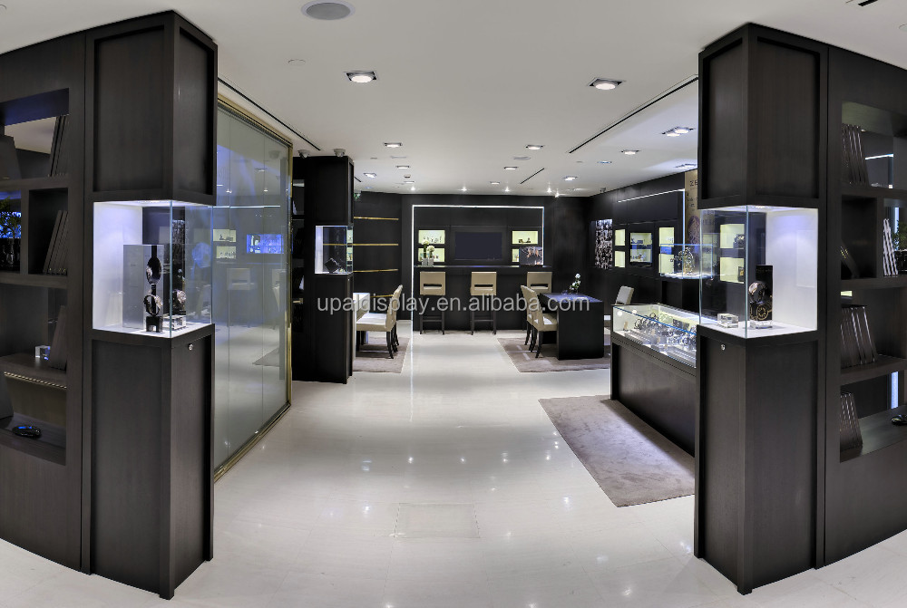 Luxury Showroom Display Counter Watch Showroom Designs