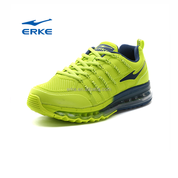 ERKE wholesale 2017 outdoor colorful mesh upper air cushion running shoes for mens