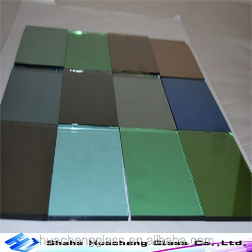 3-12mm Flat reflective glass lamianted glass with CE and ISO certificate for decoration