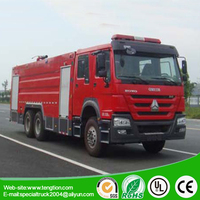 Europe V howo 16 tons water and foam fire truck for sales
