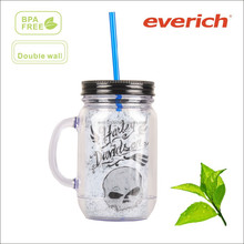 2015 best selling double wall reusable plastic tumbler wholesale