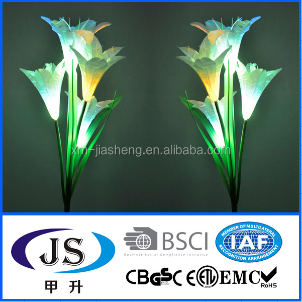Hot sale new product garden solar light/lily flower style 1led outdoor decoration solar lamp with CE certificate