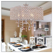 Crystal Suspension Chandelier Modern Style Square Pendant Lamp